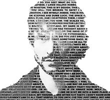 Will Graham Black & White Words by palindroned