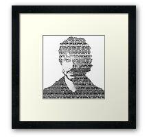 Will Graham Black & White Words Framed Print