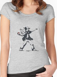 Banksy Ash Women's Fitted Scoop T-Shirt