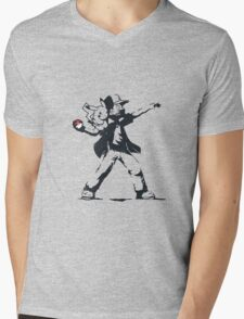 Banksy Ash Mens V-Neck T-Shirt