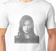 Alana Bloom Black & White Words Unisex T-Shirt