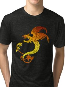 Griffin griffon gryphon in flaming colours Tri-blend T-Shirt