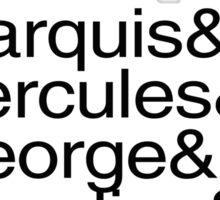 Hamilton Characters  Sticker