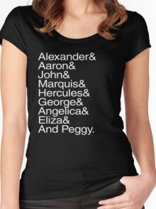 Hamilton Characters  Women's Fitted Scoop T-Shirt