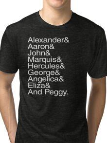 Hamilton Characters  Tri-blend T-Shirt