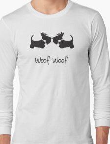 Double Scottie – Woof Woof Long Sleeve T-Shirt