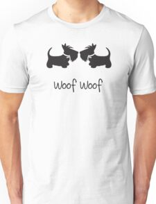 Double Scottie – Woof Woof Unisex T-Shirt