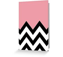 Phone Case, Chevron n Pink Greeting Card