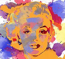 Marilyn Monroe Water Color  by aWinterMute