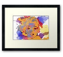 Marilyn Monroe Water Color  Framed Print