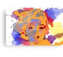 Marilyn Monroe Water Color  Canvas Print