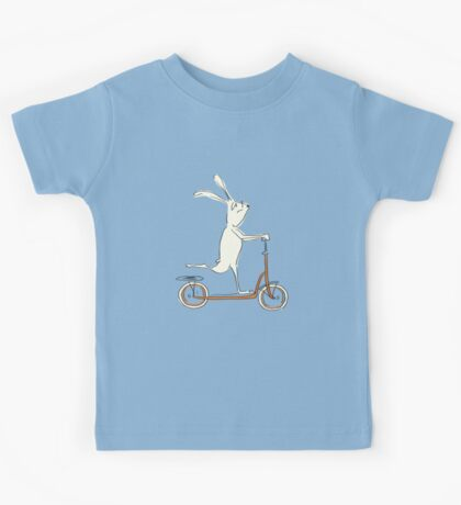scooter - blue Kids Tee