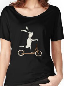 scooter - blue Women's Relaxed Fit T-Shirt