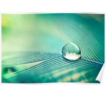 Green Water Droplet Poster