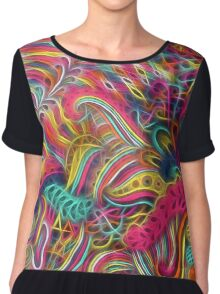Colorful Fractal Weave Chiffon Top