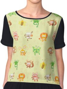 Cute animal kingdom Chiffon Top