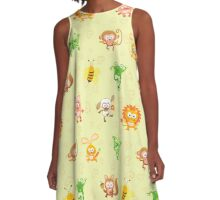 Cute animal kingdom A-Line Dress
