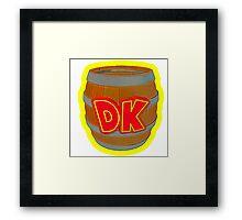 Donkey Kong Country - DK Barrel  Framed Print