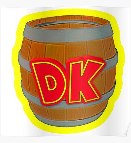 Donkey Kong Country - DK Barrel  Poster