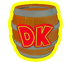Donkey Kong Country - DK Barrel  Photographic Print
