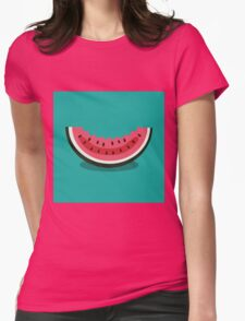 Watermelon icon Womens Fitted T-Shirt