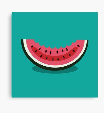 Watermelon icon Canvas Print