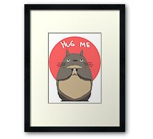 Hug Totoro Framed Print