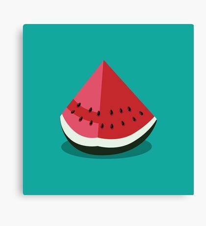 Watermelon wedge Canvas Print