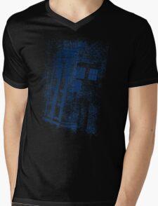 Big Blue Box Mens V-Neck T-Shirt