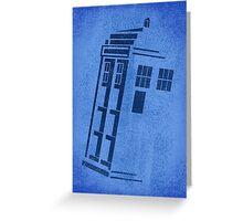 Big Blue Box Greeting Card