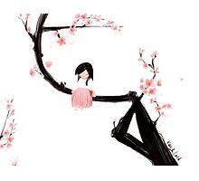 Blossom Girl Photographic Print
