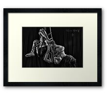 Heel to elbow touch. Hello there! Framed Print