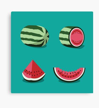 Watermelon collection Canvas Print