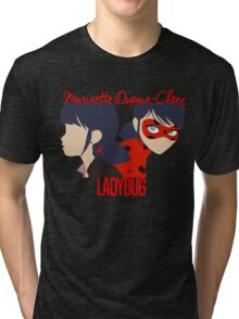 Dual Identities: Marinette and Ladybug Tri-blend T-Shirt