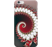 Fractal Red Frond iPhone Case/Skin
