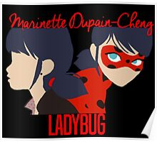 Dual Identities: Marinette and Ladybug Poster