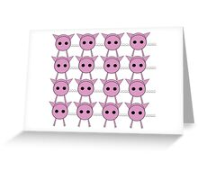 Little pigs Greeting Card