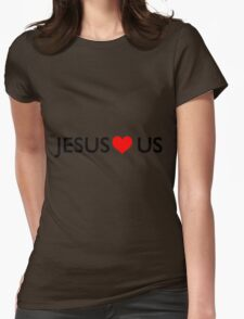 Jesus loves us Womens Fitted T-Shirt