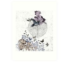astrological garden party Art Print