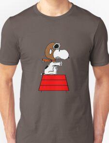 flying pilot snoopy fun Unisex T-Shirt