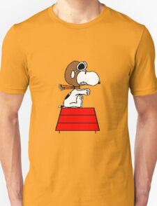 flying pilot snoopy fun Unisex T-Shirt