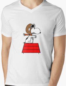 flying pilot snoopy fun Mens V-Neck T-Shirt