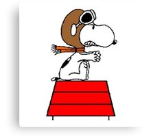 flying pilot snoopy fun Canvas Print