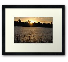 Beautiful Sunset On A Lake Framed Print
