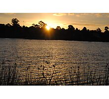 Beautiful Sunset On A Lake Photographic Print