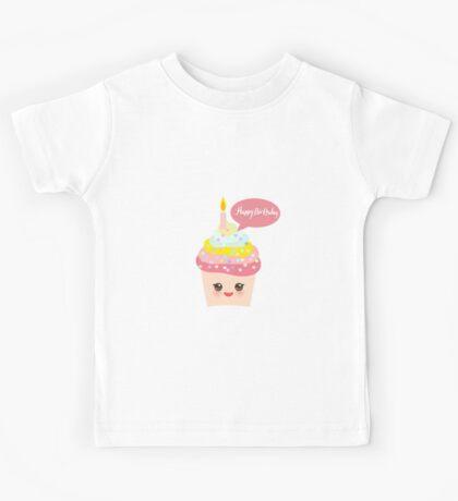 Cupcake birthday card Kids Tee