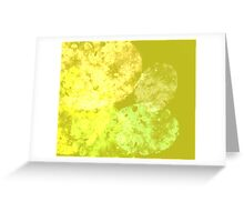 yellow and green abstract Greeting Card