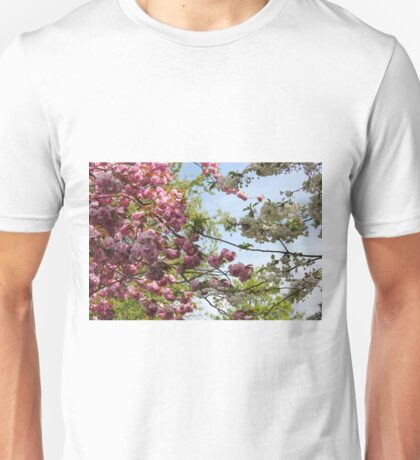 Pink and White Blossoms Unisex T-Shirt