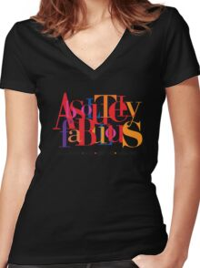 Absolutely Fabulous Holland Park Women's Fitted V-Neck T-Shirt
