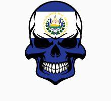 El Salvadorian Flag Skull Unisex T-Shirt